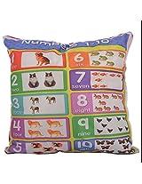 Twisha Numbers 1-10 Printed Pillow 12 X 12 X 4 Inch
