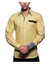 Moksh Men's Striped Casual Shirt V2IMS0414-259 (X-Large)