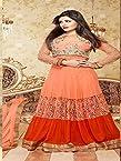 121427_Beautiful Fancy Pink With Orange Color Embriodered Anarkali Salwar Suit