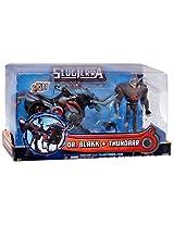 Slugterra 4-inch Human Figure with Mecha Beast - Dr. Blakk Thundarr