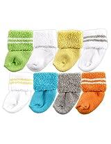 Luvable Friends 8 Pack Newborn Socks Yellow