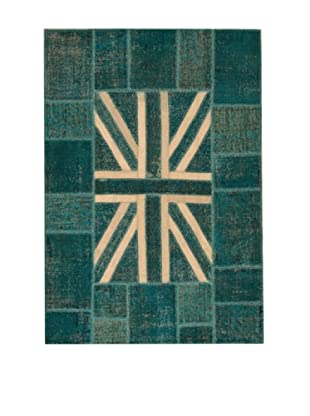 Design Community by Loomier Alfombra Tr Anatolia Patch Azul 247 x 170 cm