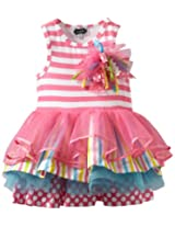 Mud Pie Little Girls' Tiered Birthday Party Tutu Dress, Multi,