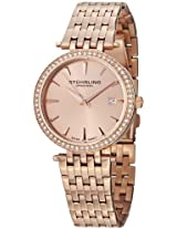 Stuhrling Original Women's 579.04 Soiree Tiara Swiss Quartz Swarovski Rose Tone Date Watch