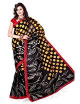 Araham Blended Saree With Blouse(BCT031_Multi Color)