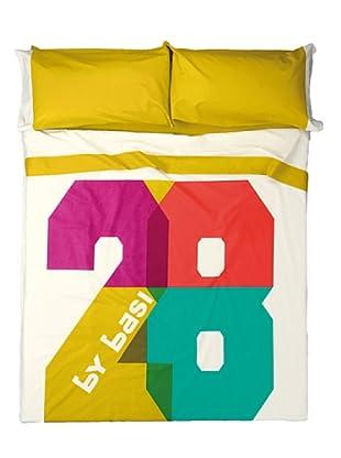 ByBasi Juego de Sábanas 28 (Multicolor)