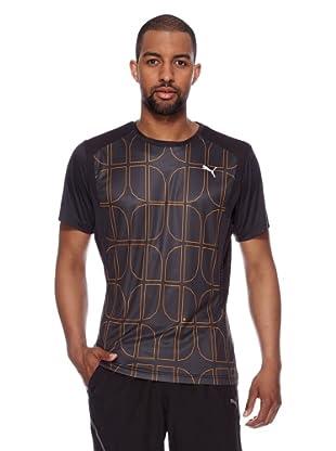 Puma T-Shirt Run Graphic (schwarz-flame orange printed)