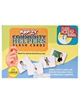 Krazy Community Helpers - Flash Cards With Ring