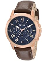 Fossil Grant Analog Blue Dial Men'S Watch -FS5068