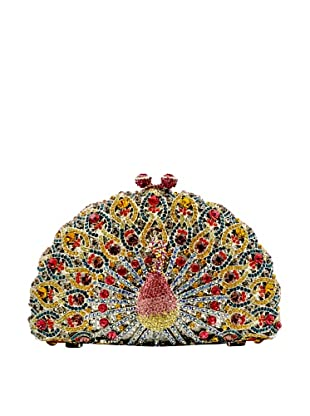 Ciel Collectables Bejeweled Peacock Handbag, Red and Yellow