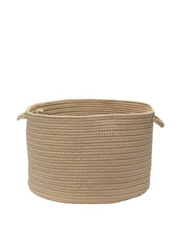Colonial Mills Summer Solids Indoor/Outdoor Storage Basket (Sand)