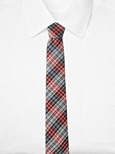 Original Penguin Men's Morton Plaid Tie, One Size (Red)