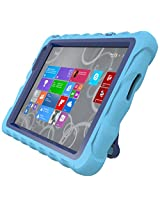 Gumdrop Cases Hideaway Rugged Case with Stand for Dell Venue 11 Tablet (Light Blue-Royal Blue)