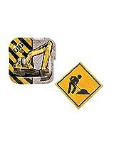 Construction Trucks Dessert Plates & Napkins Party Kit For 8