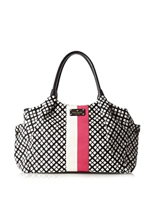 Kate Spade Women's Classic Stevie Baby Bag, Black/Cream