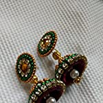 Red Jhumki Earring
