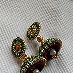 Red Jhumki Earring