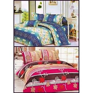 Decorvilla Designer Single Bed Sheet - Buy 1 Get 1 Free