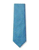 100% Silk Blue Micro Bees Necktie Tie Neckwear