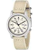 Seiko Men's SNK803K2 Beige Nylon Automatic Watch with Beige Dial