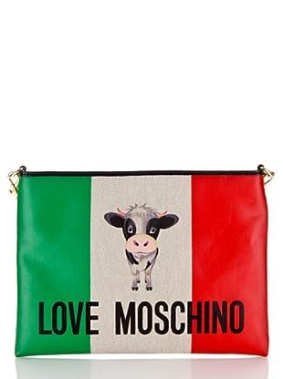 Love Moschino Handtasche Canvas St. Italian Cow (Elfenbein)