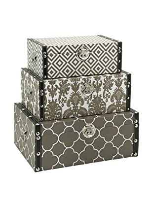Set of 3 Essentials Storage Boxes, Taupe