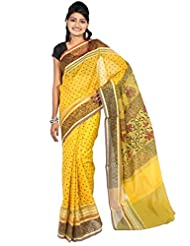 Bunkar Banarasi Ethnic Net Saree With Blouse Piece_946 P -GOLD