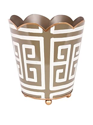Jayes Greek Key Gray Decorative Cachepot