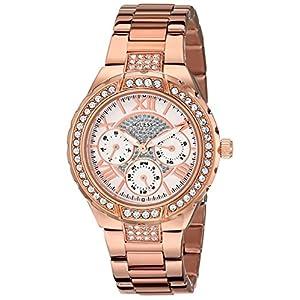 GUESS U0111L3 Multifunctional Rose-Tone Watch for Women