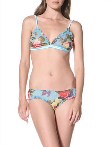 La Fee Verte Women's Silk Panty (Gypsy Rose Blue)