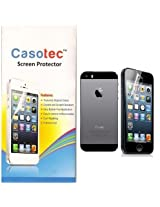 Casotec Super Clear Self Healing Screen Protector for Apple iPhone 5S (Front & Back)