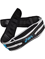 ASICS Unisex Adult Long Haul Waistpack,Black-Pac Blue,Small-Medium