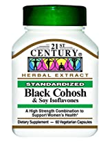 21st Century Black Cohosh with Soy Isoflavones Veg-Capsules, 60-Count