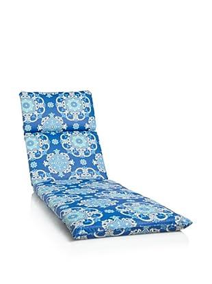 Waverly Sun-n-Shade Garden Crest Chaise Lounge Cushion (Marine)