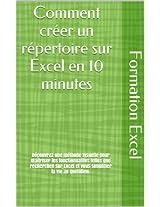 Comment créer un répertoire sur Excel (French Edition)