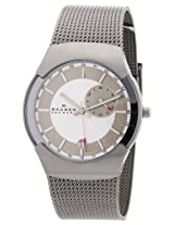 Skagen Analog Silver Dial Men's Watch - 983XLSSC