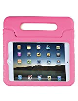 HDE iPad Mini 4 Case for Kids Shockproof Handle Stand Protective Cover for 2015 Apple iPad Mini 4 Retina (Light Pink)