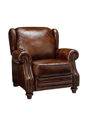 Onyx Dallas Top Grain Leather Armchair, Brown Multi