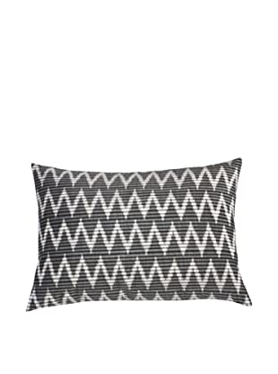 Filling Spaces Ikat Handloomed Pillow, Black