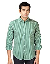 Peter England Striped Slim Fit Full Sleeves Shirt