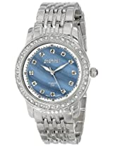 August Steiner Women's AS8045SS Diamond and Crystal Swiss Quartz Bracelet Watch