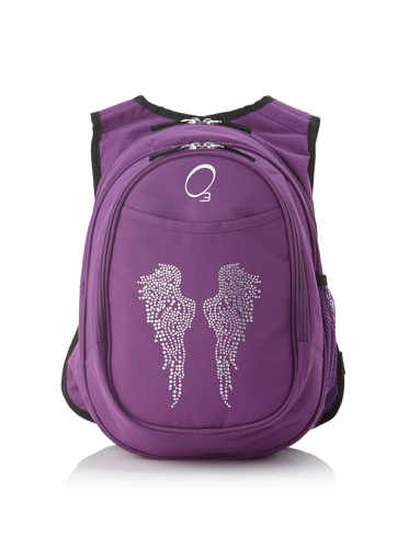 O3 Kid's All-in-One Backpack with Integrated Cooler (Rhinestone Angel Wings)