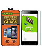 Adoniss Premium Tempered Glass Screen Protector For Micromax Canvas Juice 4 Q382