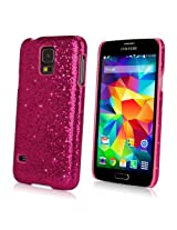 Galaxy S5 Case, BoxWave® [Glamour & Glitz Case] Slim, Snap-On Glitter Cover for Samsung Galaxy S5 - Cosmo Pink