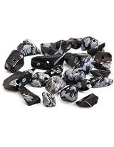 Beaders Paradise LTCH33 Snowflake Obsidian Gray Semi-Precious Chips in a Tube