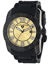 Swiss Legend Men's 20068-BB-10 Commander Collection Black Ion-Plated Gold Dial Watch