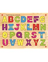 Kinder Creative-KCL-13-Capital Alphabet without picture with Knobs(Multicolour)