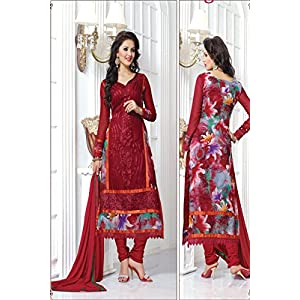 New Lovely Red Collection Designer Long Anarkali Suit