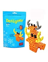 Science Unlimted Block Transformers Design Orange Deer 2 In 1