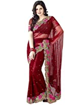 Bharat Plaza Light Pink Saree
